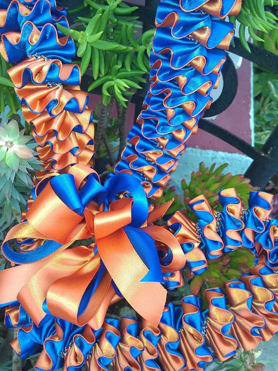 Plumeria style ribbon lei by melokiadesigns on Etsy, $45.00