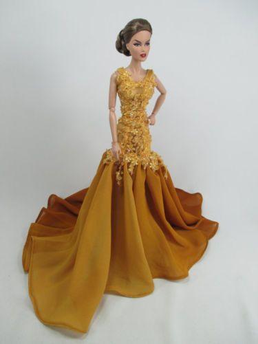 Handcrafted-Barbie-Muneca-Traje-Vestido-Vestido-de-moda-realeza-36-18                                                                                                                                                      Más