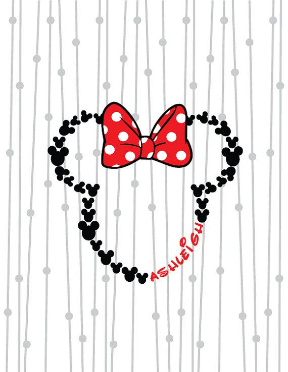 Minnie Mouse Monogram Mouse Ears SVG Bow by SassySouthernSVGs