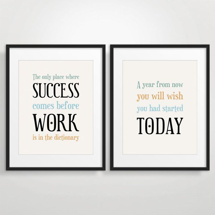 Office decor typography posters inspirational by Art for office walls