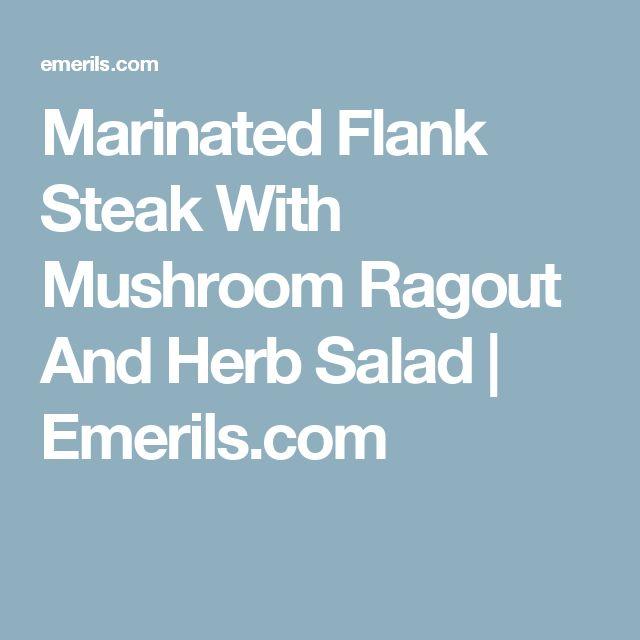 recipe: flank steak with mushroom ragout [18]