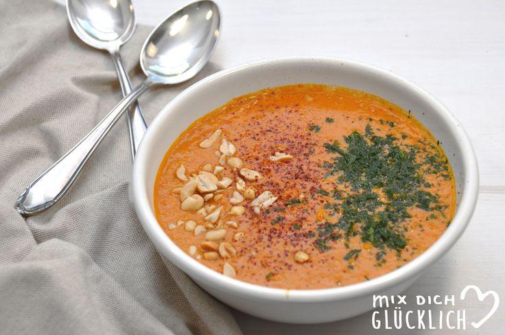 rote Linsen Erdnuss Suppe afrikanisch vegan aus dem Thermomix