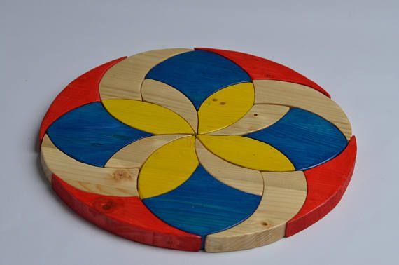 Waldorf Puzzle Geometric Puzzle Wooden Puzzle Birthday