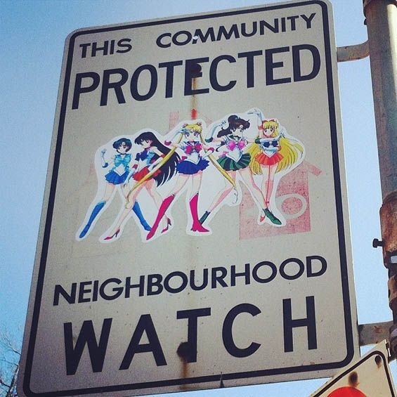 """Andrew Lamb Updates Innocuous """"Neighborhood Watch"""" Signs Using TV And Movie Characters"""