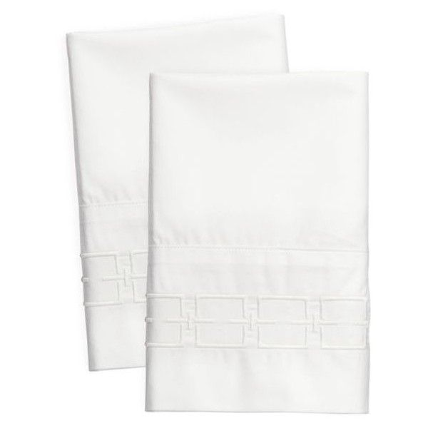 Modern. Southern. Home.  White Embroidered Cotton Percale King Sheet... ($110) ❤ liked on Polyvore featuring home, bed & bath, bedding, bed sheets, white, king size bed sheet set, king size bedding, king size bed linens, king bed linens and modern king bedding