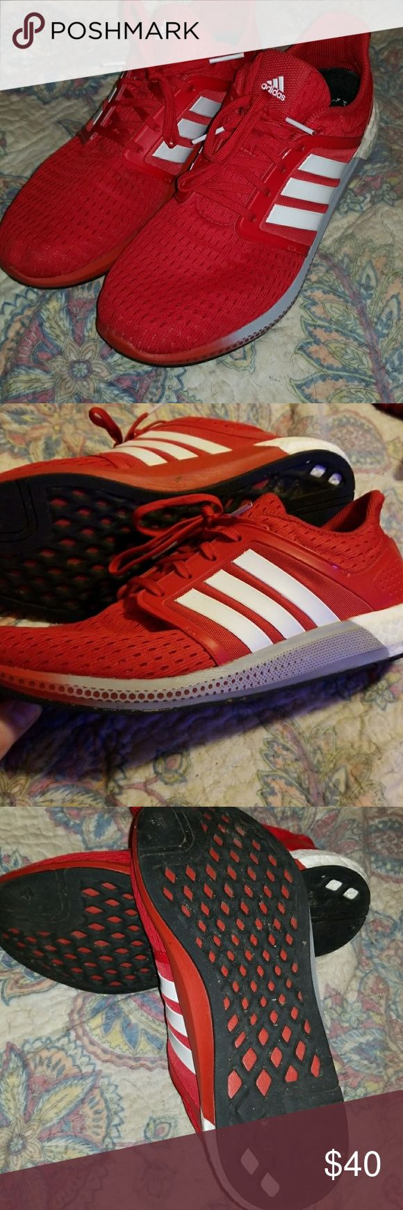 Adidas Solar Boost Gently worn Adidas Solar Boost men's shoes size 11.5 adidas Shoes Athletic Shoes
