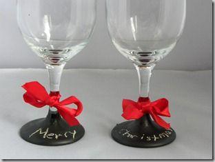 Homemade Christmas: Chalkboard Glasses & Jar