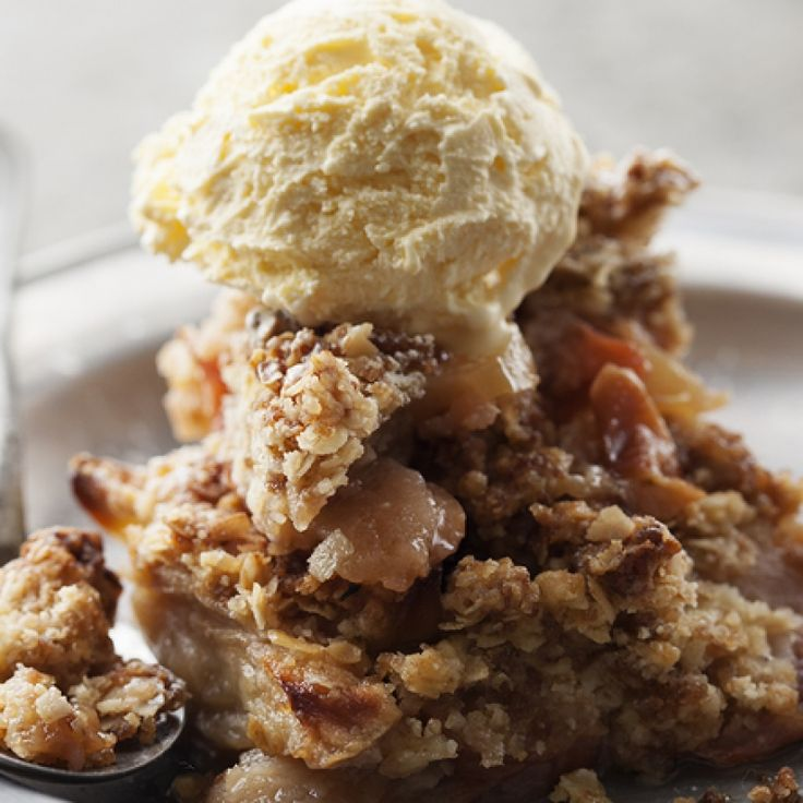 This apple crisp with granola makes a crispy apple crisp that if chocked full of flavor and is super easy to make.. Apple Crisp With Granola Recipe from Grandmothers Kitchen.