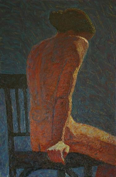 Woman sitting back - 2.