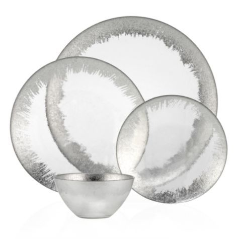 Solaris Silver and Glass Dinnerware - Sets of 4 from Z Gallerie