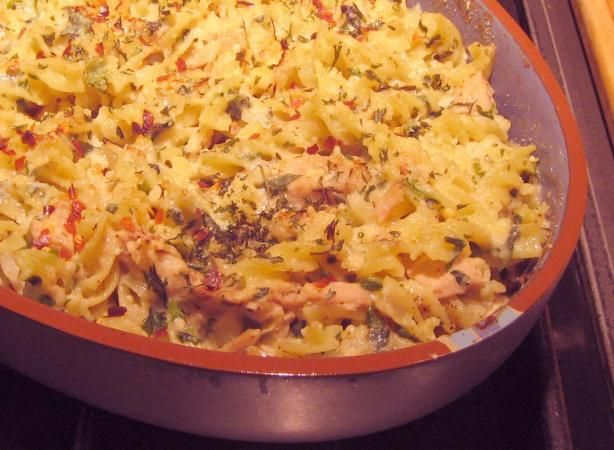 Rachael Ray's Italian Tuna (or Salmon) Casserole - we've been making this for years - my 5.5yo LOVES her pasta with spinach
