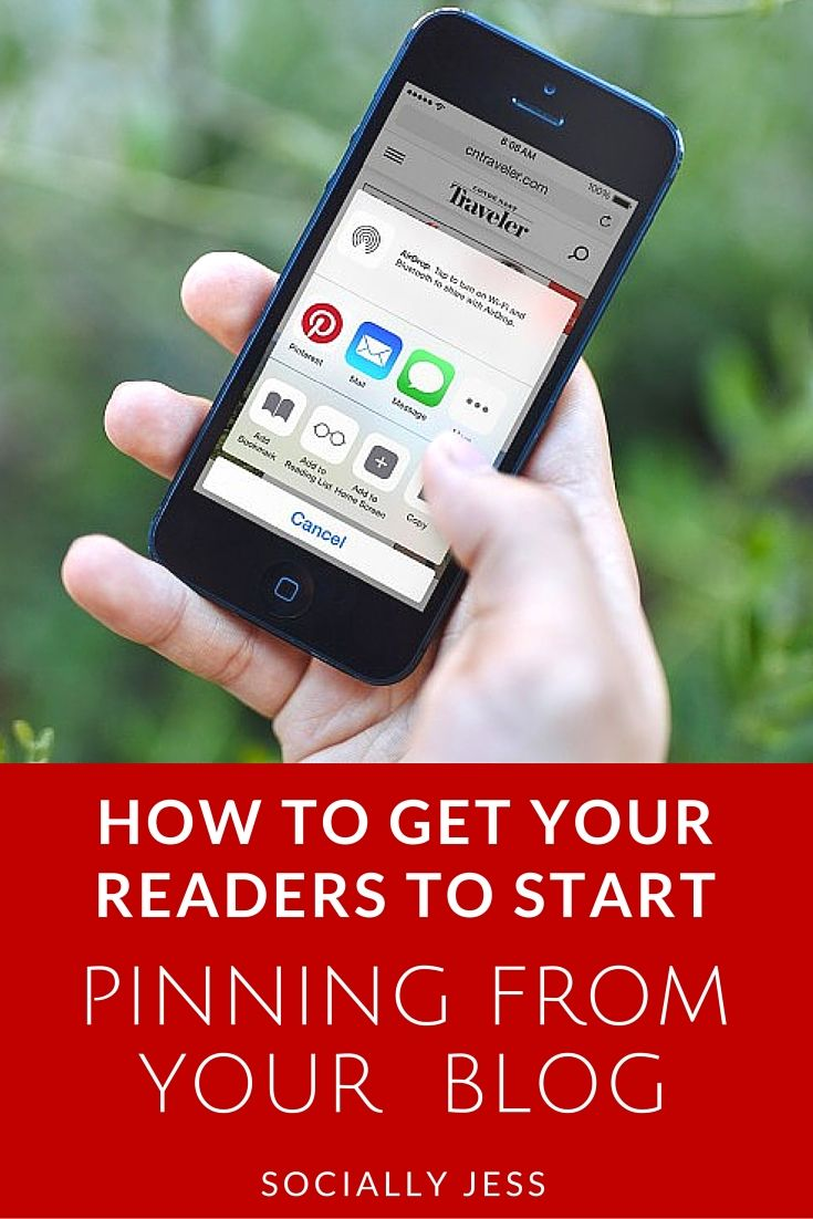 How to get your readers to pin from your blog - Get your readers and visitors pinning images and content from your site to their Pinterest boards with these tips on how to optimise your website for Pinterest.