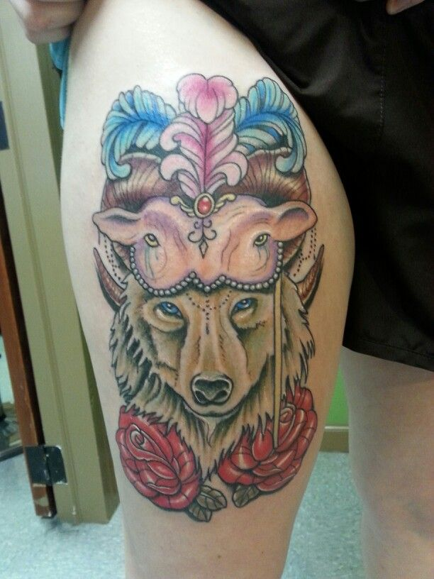 wolf in sheeps clothing from high caliber custom tattoo in
