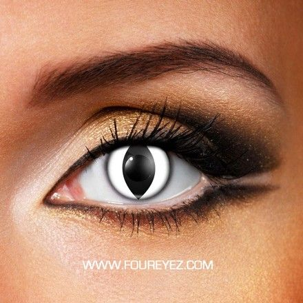 White Cat Eye Contact Lenses (Pair)