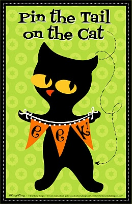 Pin the Tail on the Kitty, Pin the Tail Game, Printable ...