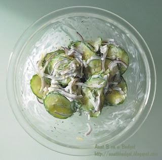 Aunt B on a Budget: Cucumber and Red Onion Salad