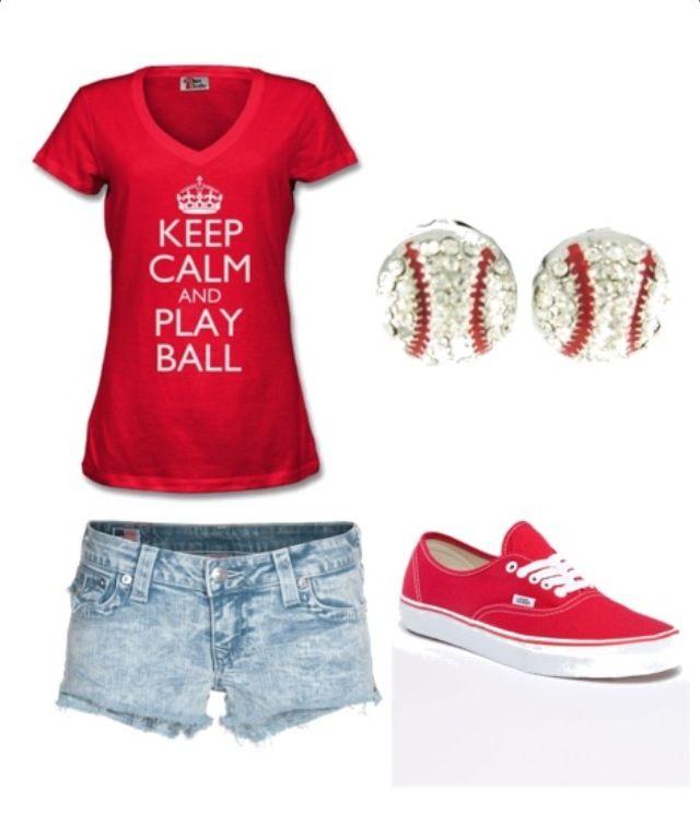 Baseball! I need this shirt! No no no wait...I need this whole outfit!!!