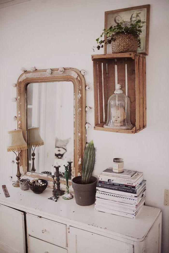 1001 Idees Pour Fabriquer Une Etagere En Cagette Soi Meme Meuble Rangement Chambre Meuble Rangement Deco Maison