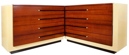 Pair Of Gilbert Rohde American Art Deco Four Drawer Chests
