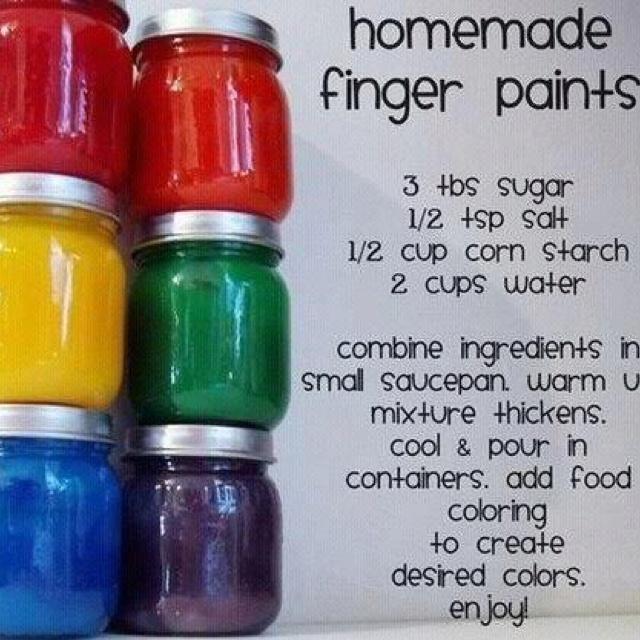 zelf vingerverf maken