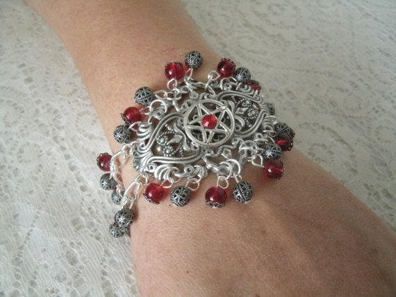 Divine Goddess Pentacle Bracelet wiccan jewelry by Sheekydoodle