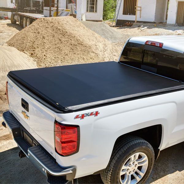 "2016 #Silverado 1500 Hard Folding #Tonneau Cover, 5'8"" Bed, Black Gloss: These Hard Folding Tonneau covers are engineered to provide quick and easy access to your truck's cargo area, while offering the ultimate protection for your cargo. The flat and smooth tri-fold desing allows easy opening and closing."