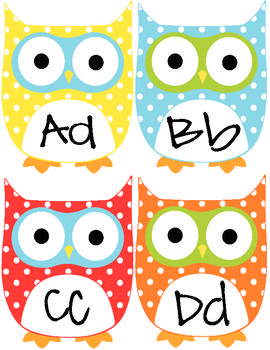 Free owl word wall letters