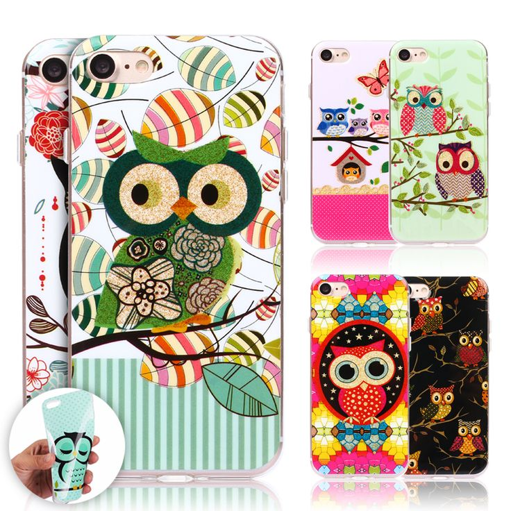 For iPhone 7 Case Cute Owls Cartoon Soft TPU Gel Phone Case for iPhone 7 6 6s 4.7inch SE 5s NEW Silicon Phone Cases Fundas Cover
