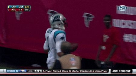 Whenever the Carolina Panthers score a touchdown, quarterback Cam Newton will find a kid in the crowd to whom he'll give the ball. | A Quarterback Gave A Ball To A Young Fan Who Recently Lost His Dad