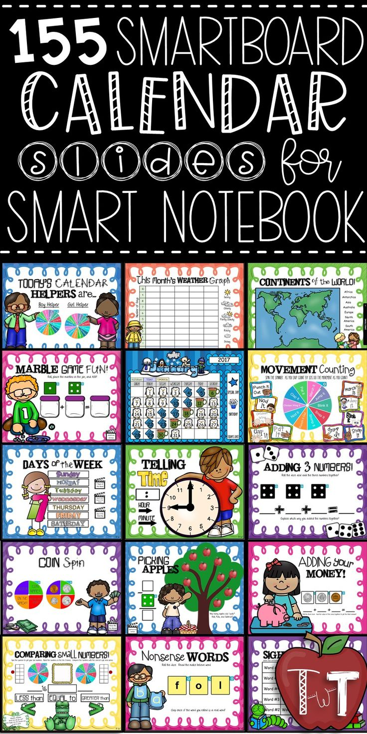 Do morning calendar time on your Smartboard using these math, language arts, reading, and social studies slides.  Perfect for morning math, morning meeting, everyday calendar time, etc.  These slides will take you from the first day of school to the last day of school!