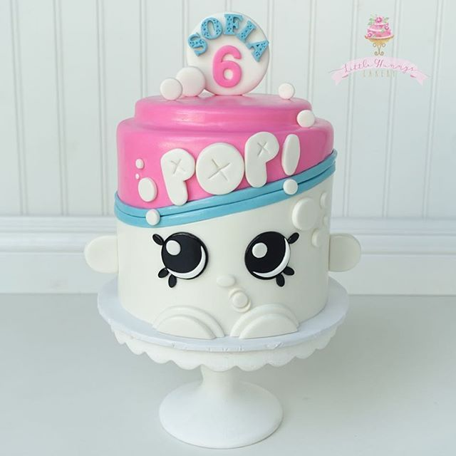 Yay! Finally got an order for a Shopkins cake!  6 cutter from @christinesmolds