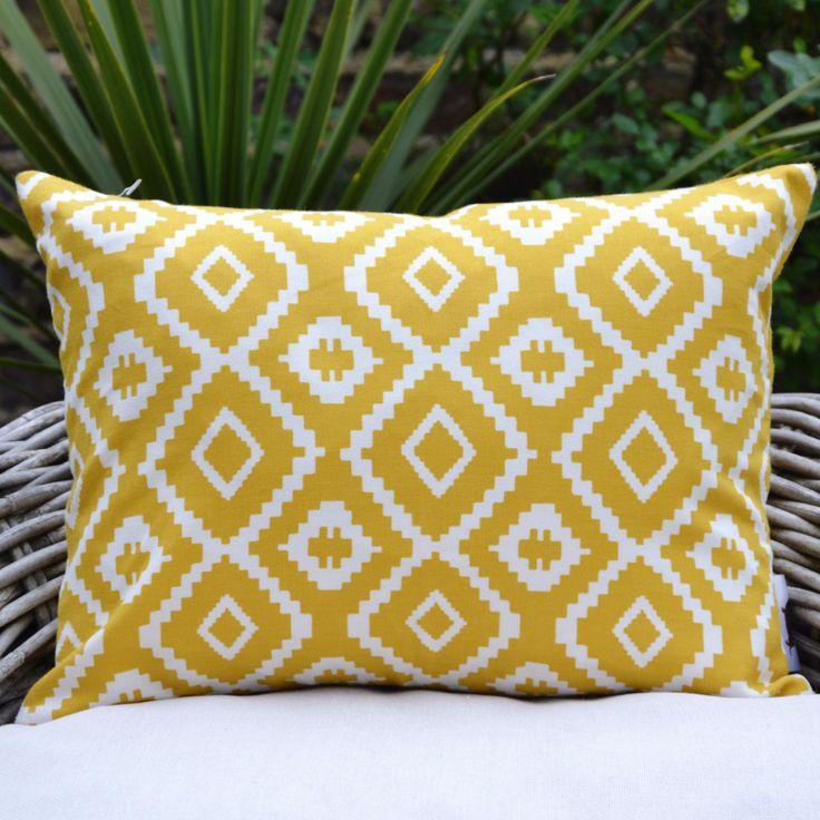 Nazca Mustard Aztec Cushion Cover