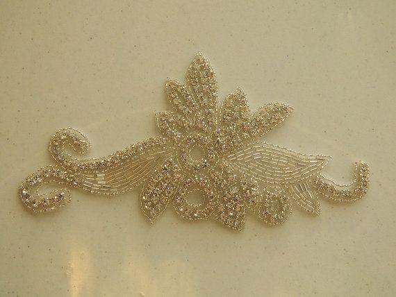 Bridal Accessories Crystal Applique Wedding by AppliqueRhinestones, $16.95