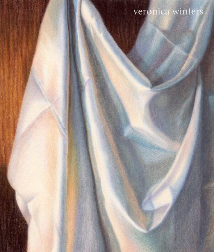 drawing fabric colored pencil