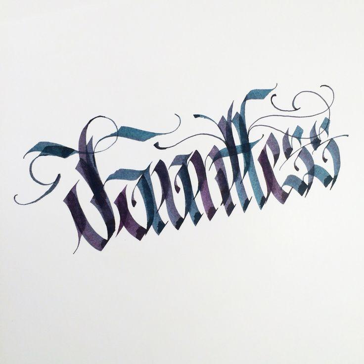 Dauntless. #makedaily #calligraphy #calligraffiti #calligritype #typographyinspired #blackletter #inking #ink #Blackletter #Fraktur #lettering #pilotparallelpen #handstyles #thedailytype #caligrafia #graffiti #showusyourtype #graphicdesign #goodtype #typedaily #typespire #handmadefont #art