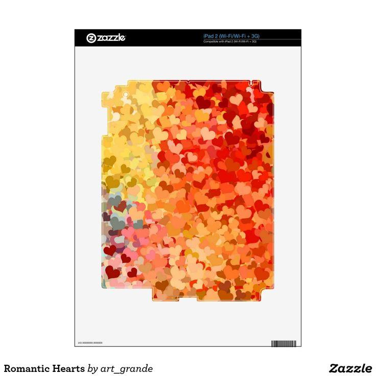 Romantic Hearts iPad 2 Decals