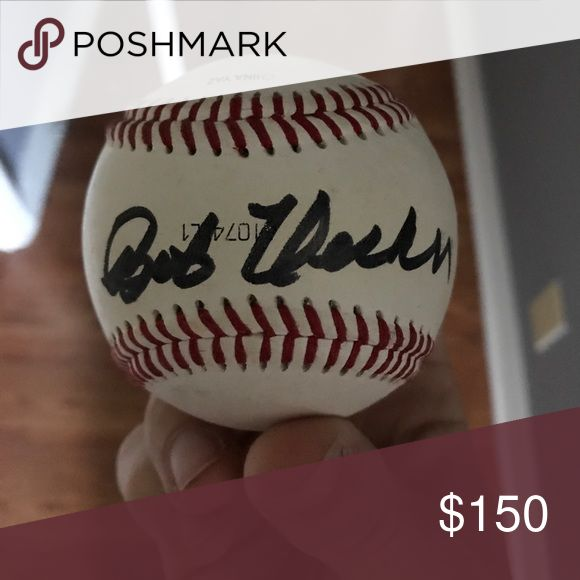 Bob Uecker Autographed baseball Bob Uecker Autographed baseball of the Milwaukee Brewers Other