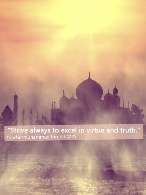 Virtue and Truth (Prophet Muhammad Quote)