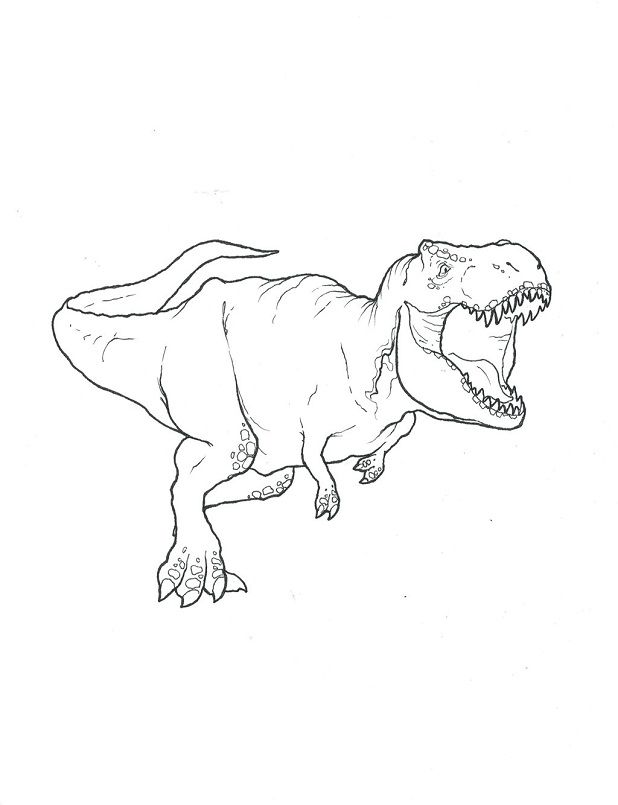 Trex Coloring Sheet Dinosaur Coloring Pages