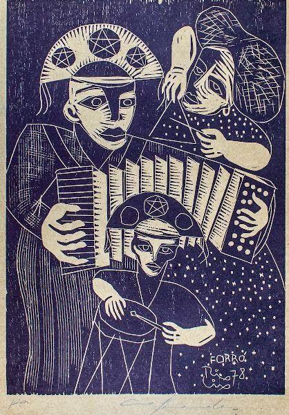 Forró. Xilogravura. Ciro Fernandes (1978)