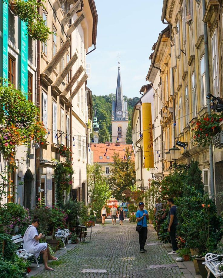 Julius Hubert On Instagram The Picturesque Streets Of Ljubljana Capital Of Slovenia Ljubljana Slovenia Slo Slovenia Ljubljana Ljubljana Slovenia Travel