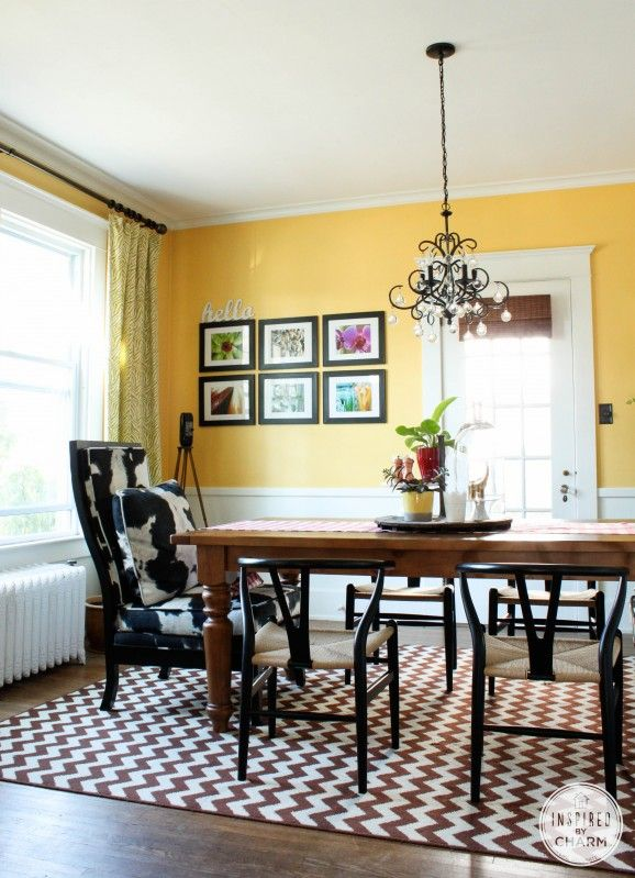 Love the walls decor table chandelier and natural for Warm neutral paint colors for dining room
