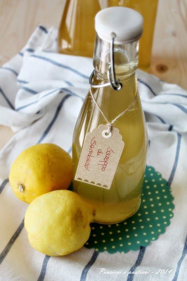 Sciroppo di sambuco e limone | pensieri e pasticci