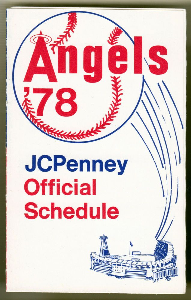 1978 ANAHEIM CALIFORNIA ANGELS JC PENNY BASEBALL POCKET SCHEDULE FREE SHIPPING #Schedule