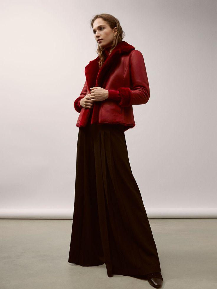 ABRIGO MOUTON REVERSIBLE - Mujer - Massimo Dutti España