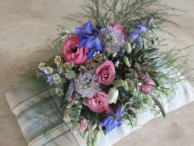 Bridemaid's bouquet of country style wedding flowers by Honey Pot Flowers