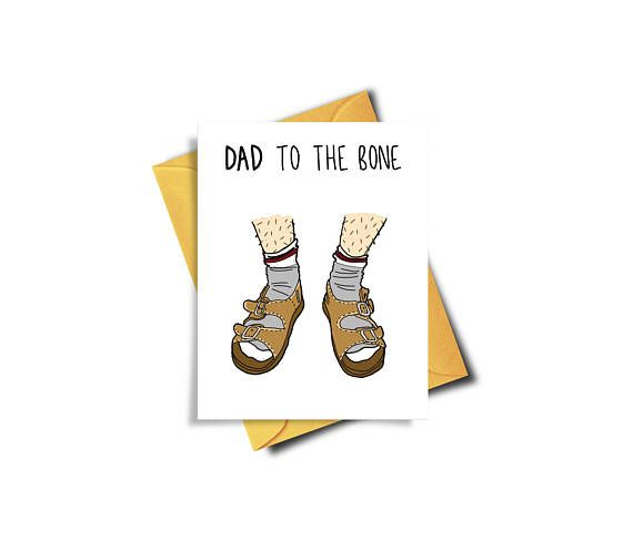 Funny Dad Card / Birkenstocks / Socks / Socks and Sandals / Funny Card / Birthday Card for Dad / Fathers Day Card / Father's Day