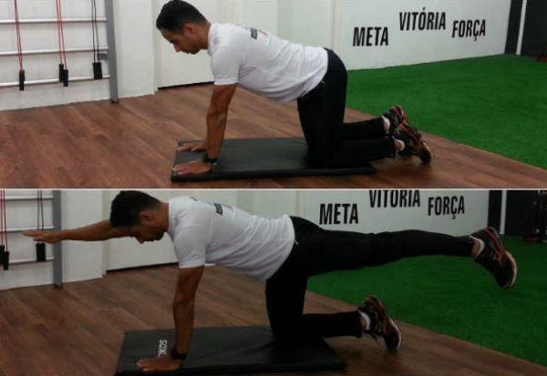 Exercício em 4 apoios