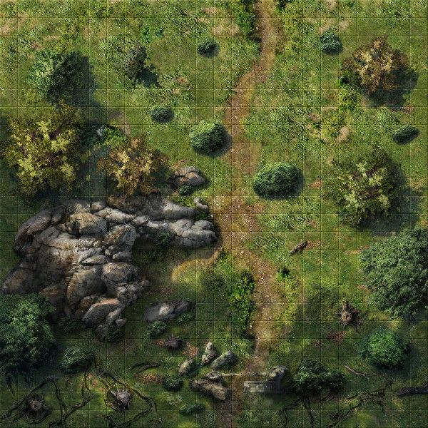 map forest maps fantasy battle rpg dungeon tiles dnd battlemap pathfinder dragons 5e wilderness game dungeons foret route down cliff
