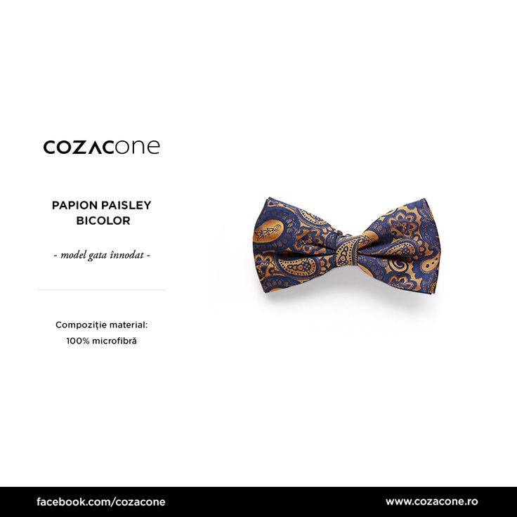Cu un papion spectaculos, și cel mai simplu costum office prinde viață! Alege de aici: http://bit.ly/papioane_Cozacone